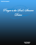 Prayer is the Soul\'s Sincere Desire  SATB